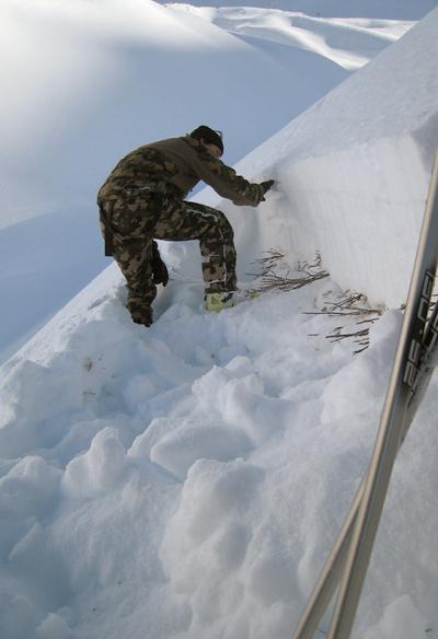 Erstellen eines Schneeprofils